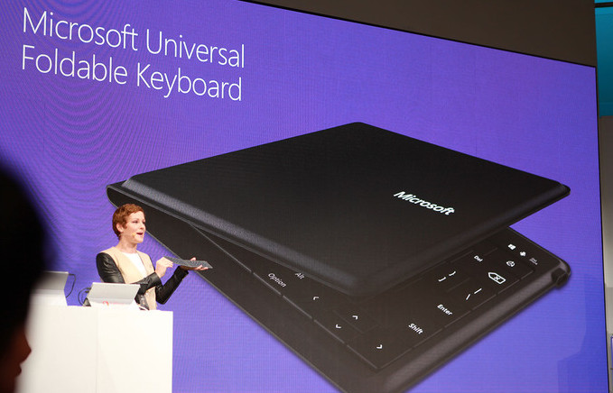 Microsoft foldable Bluetooth keyboard