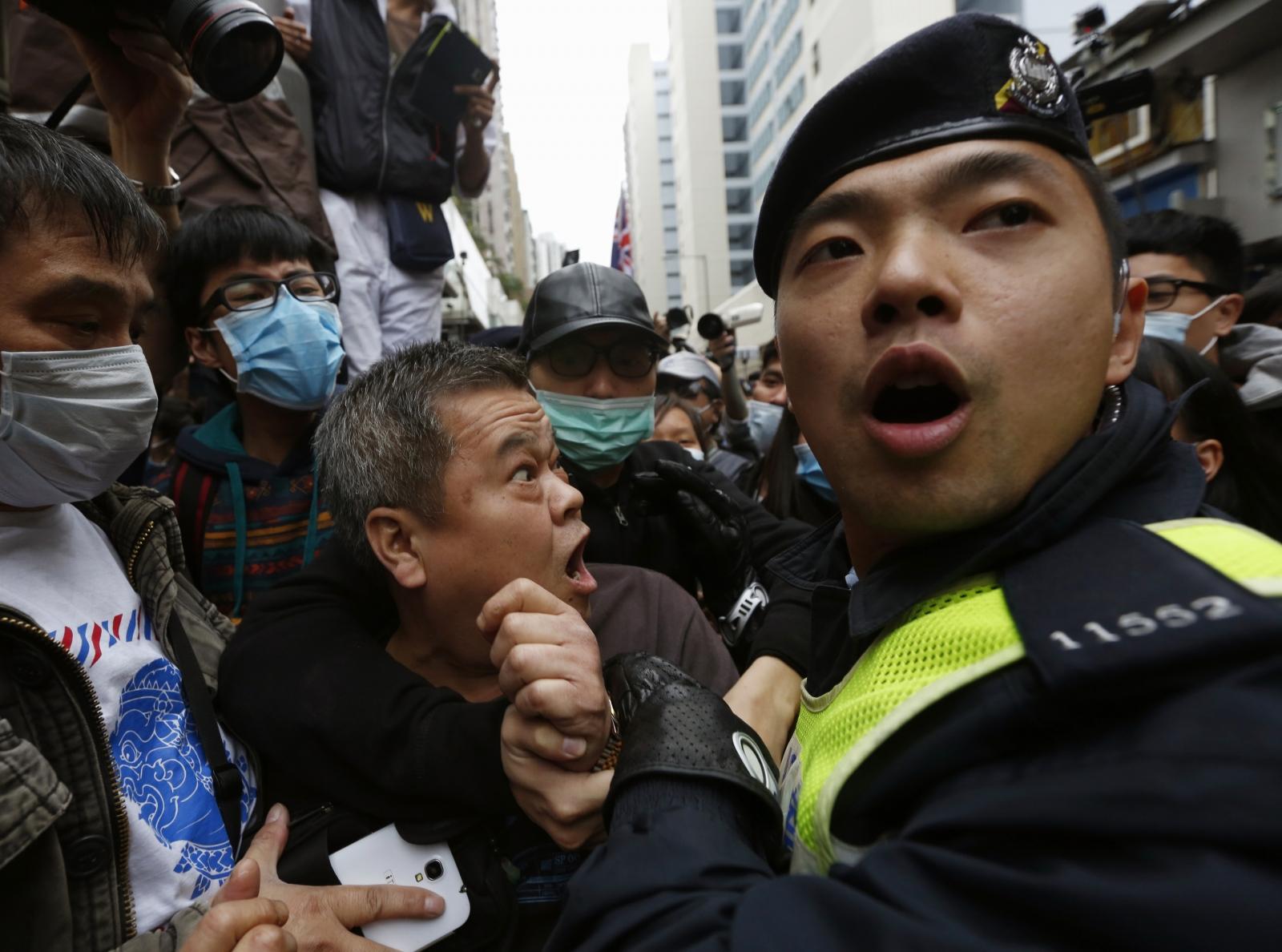 Hong Kong protest arrest