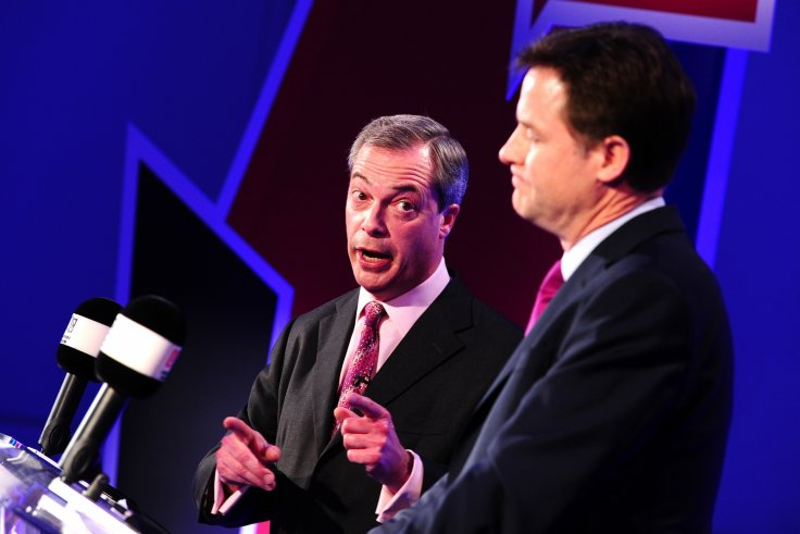 Nick Clegg and Nigel Farage debate