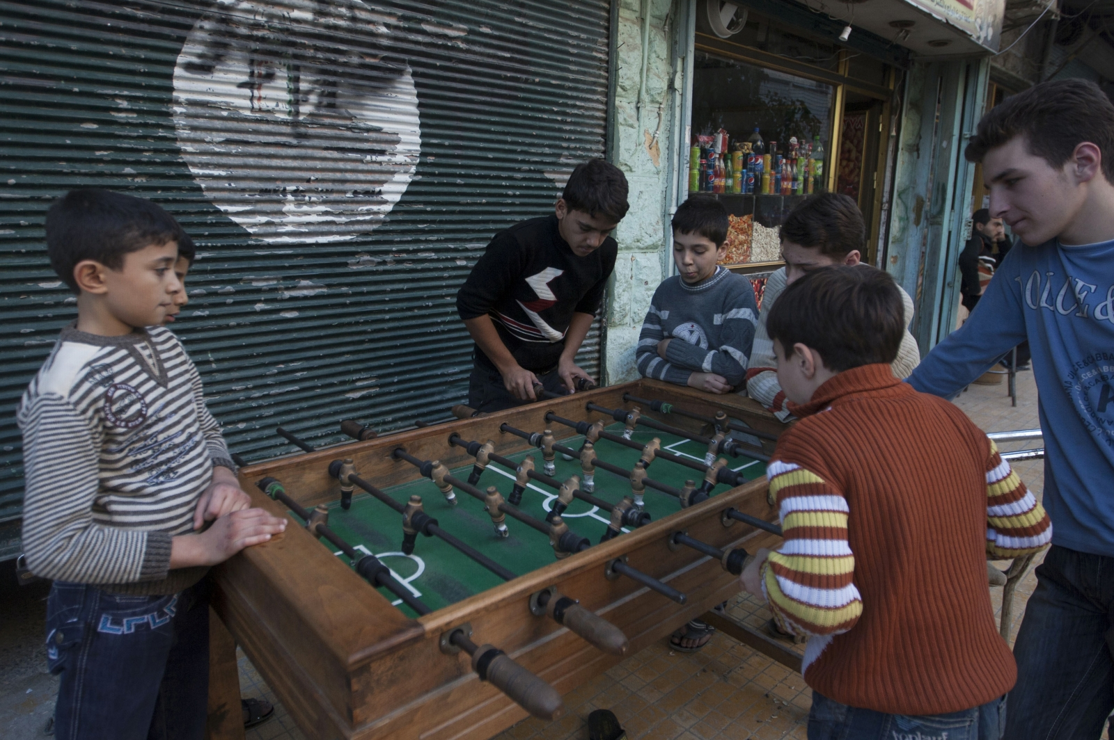 Isis fatwa table football beheaded figures