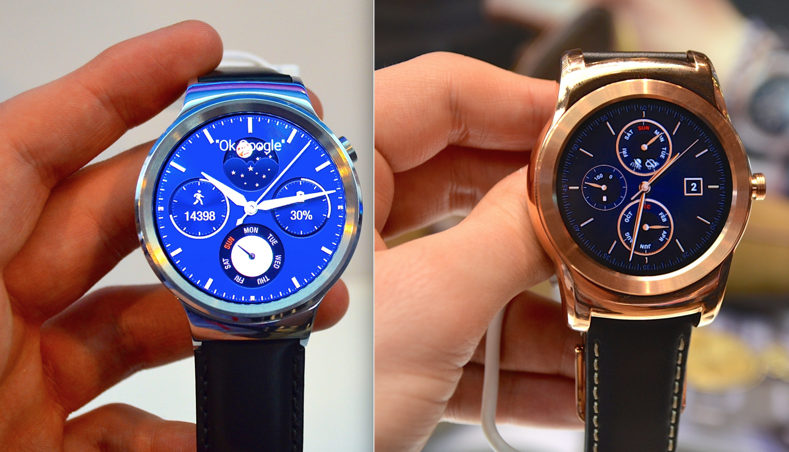 Huawei Watch and LG Watch Urbane