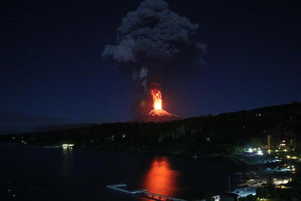 Volcano Villarica Chile Eruption