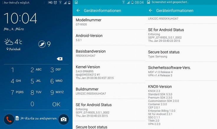 Android 5 0 1 Lollipop I9505XXUHOA7 official firmware leaks