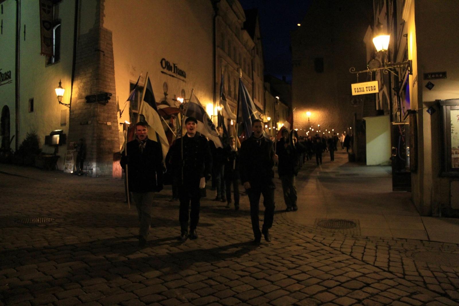 Estonia torchlit parade