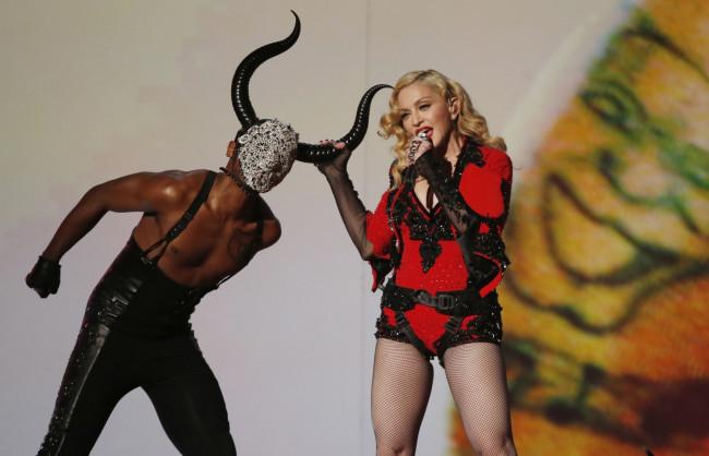 France Marine Le Pen meets Madonna