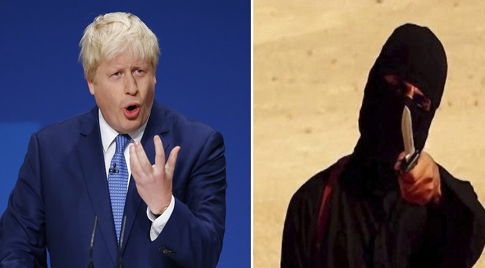 Boris Johnson condemned Jihadi John 'apologists'
