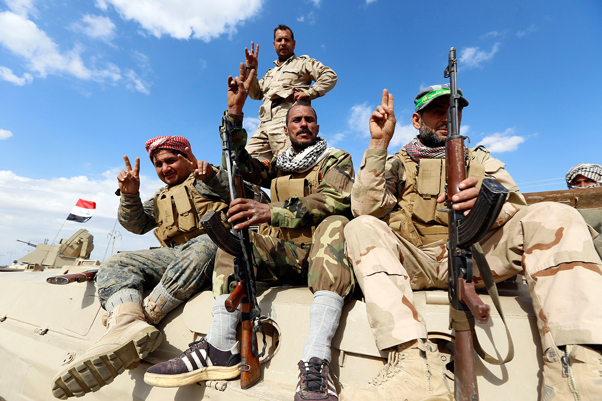 Shiite fighters Isis Iraq