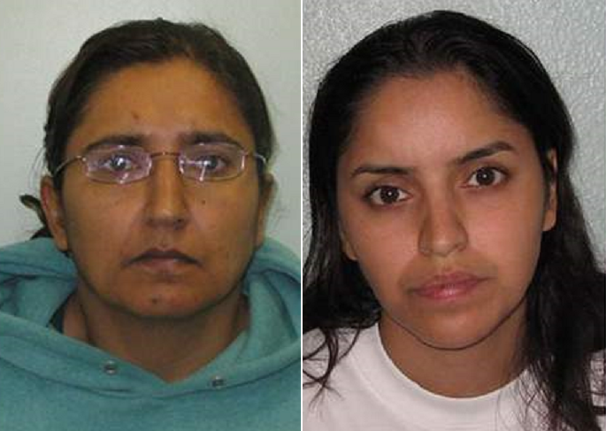 Killers: Kiki Mudda (left) and Polly Chowdhury