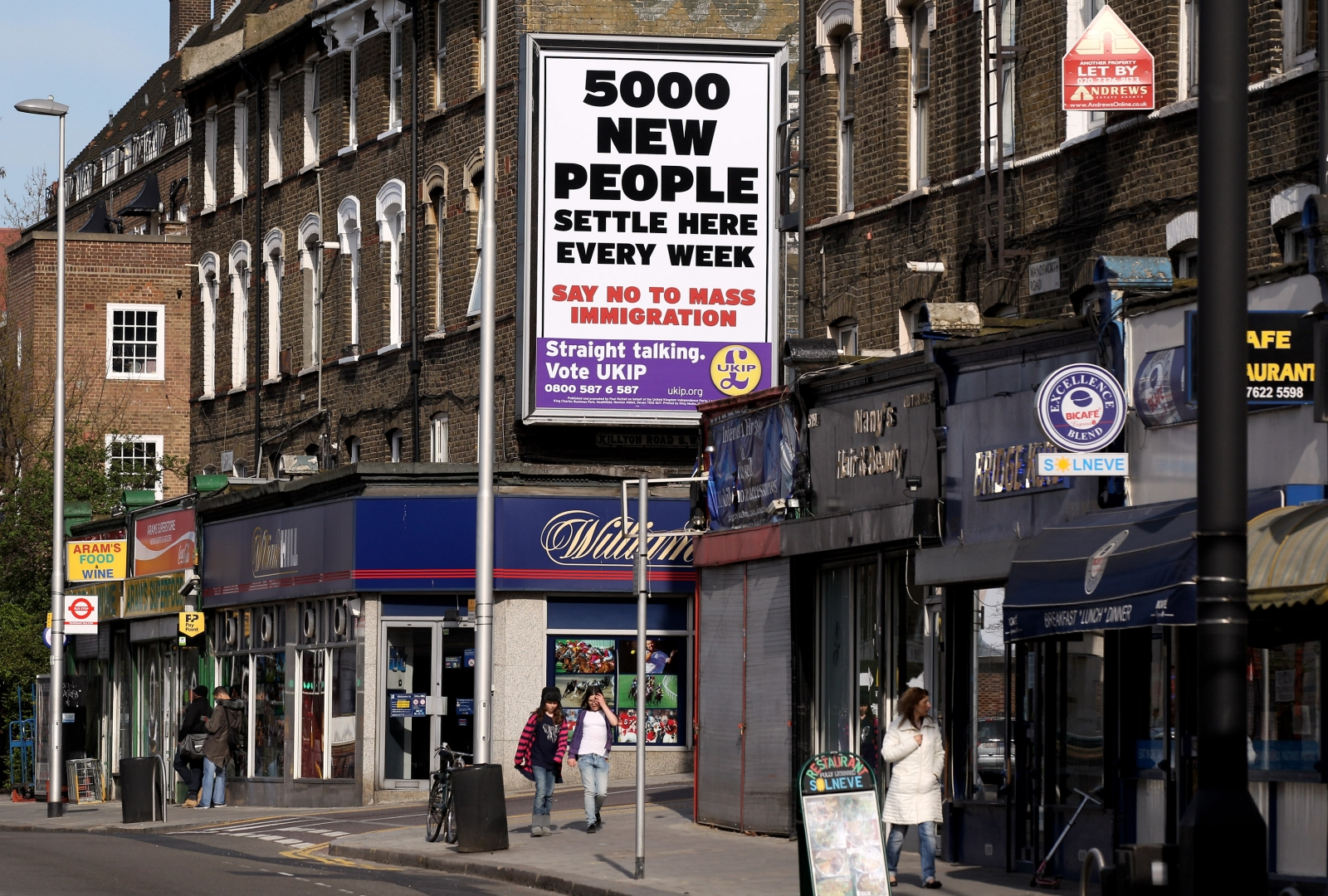 Ukip immigration poster in London