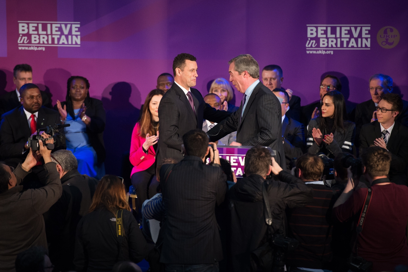 Nigel Farage and Steven Woolfe