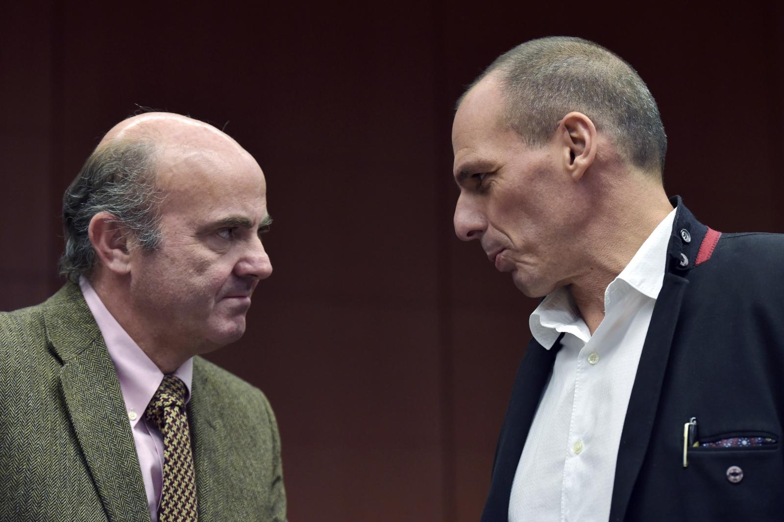 Luis de Guindos Yanis Varoufakis