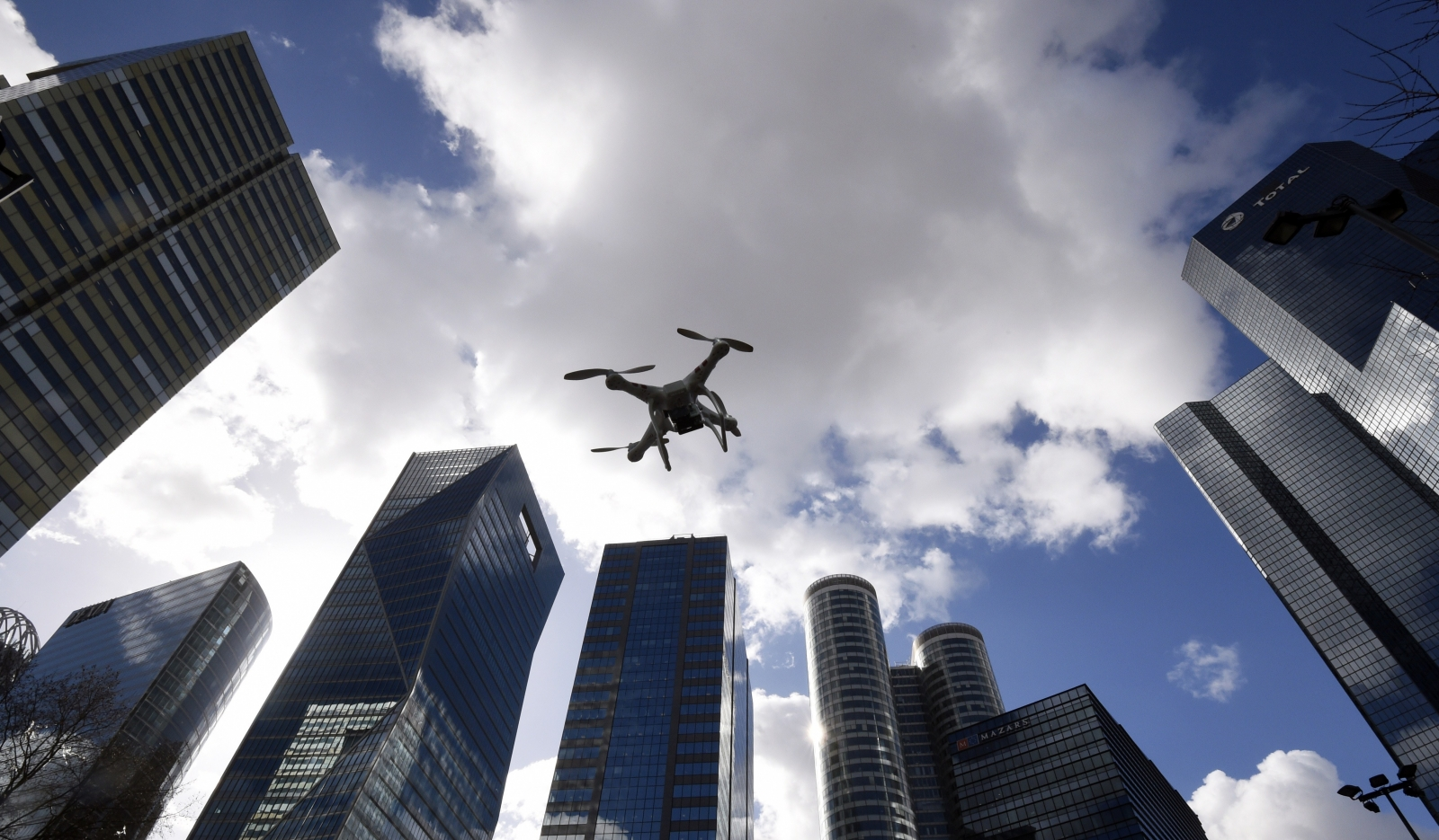 Flying drones in the city not allowed
