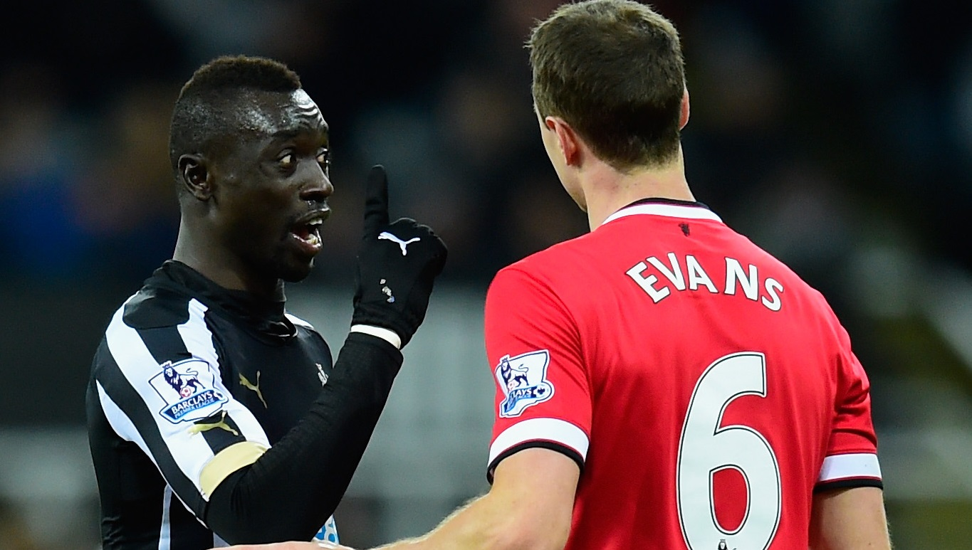 Papiss Cisse and Jonny Evans