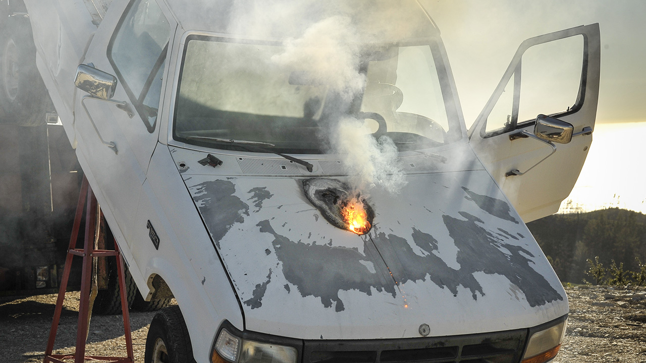 Lockheed Martin Athena laser weapon test
