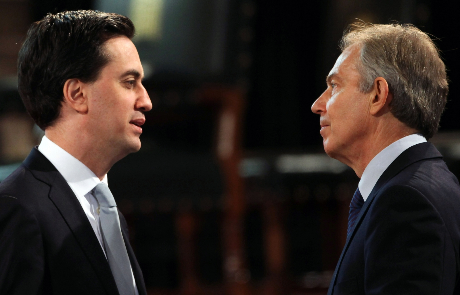 Tony Blair and Ed Miliband