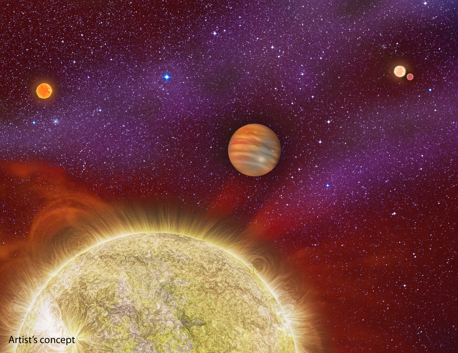 quadruple star system with planets - photo #1