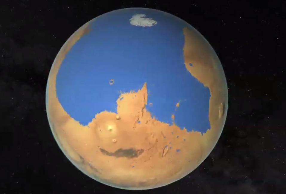 Mega Tsunamis On Mars Meteorite Strikes Caused 120m Waves