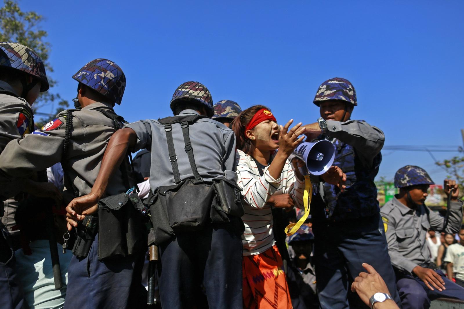 Myanmar student protest crackdown