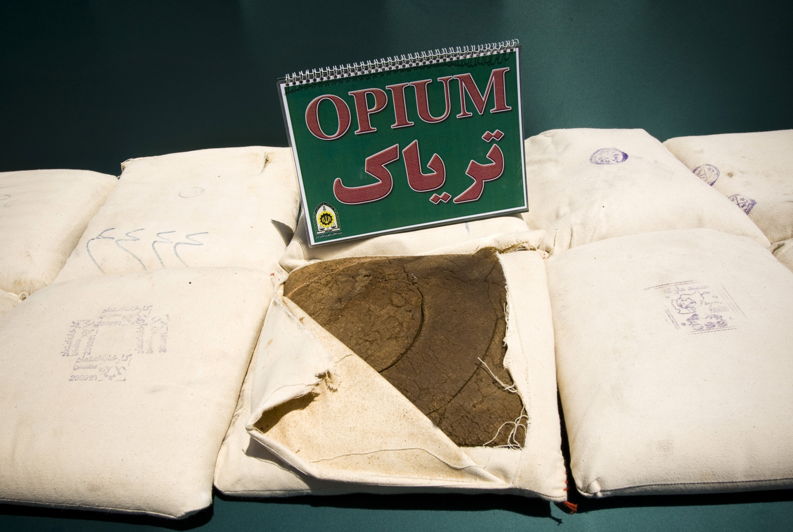 Opium seized on the Iranian border. (Reuters)