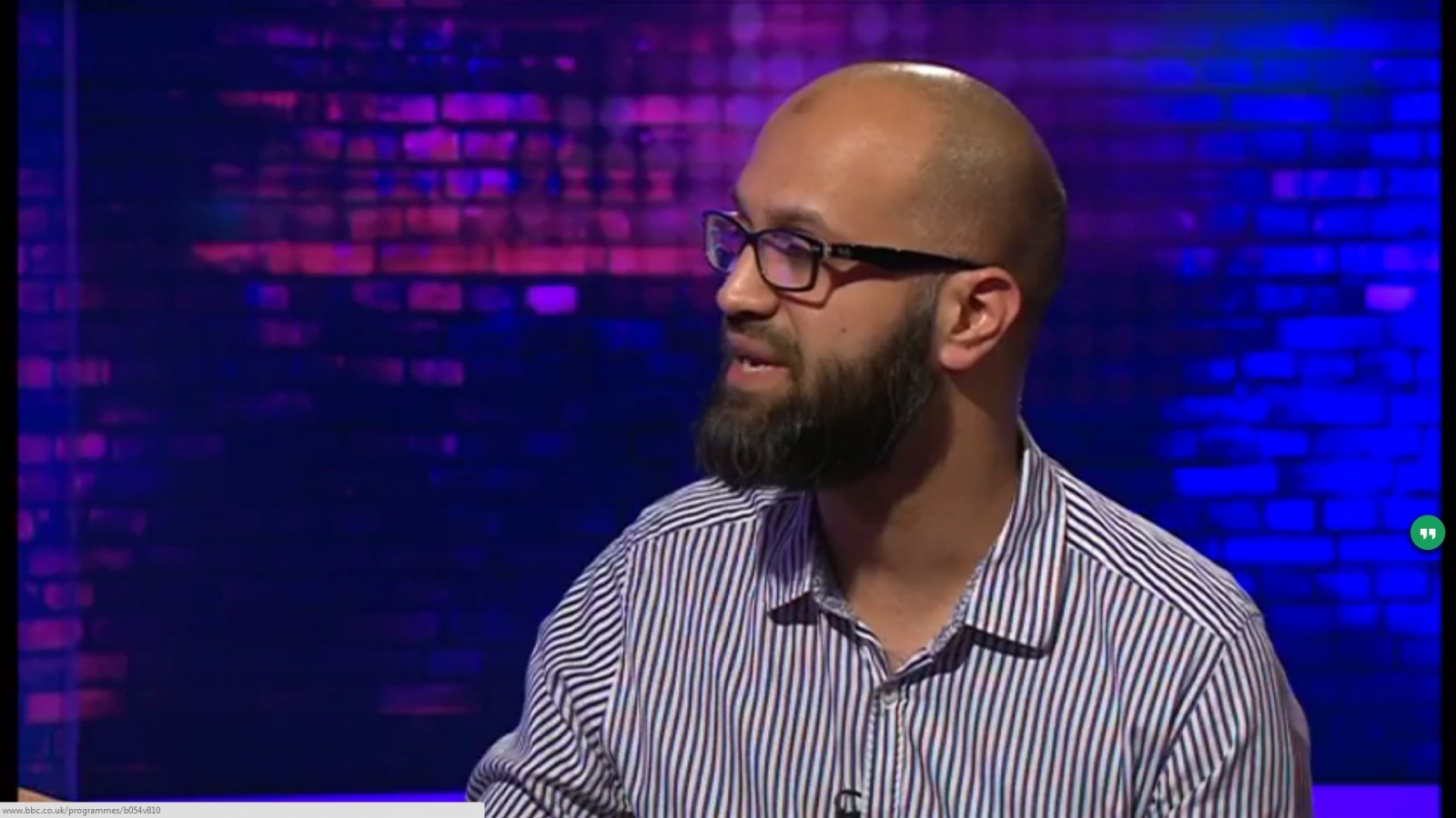 Asim Qureshi on the This Week programme