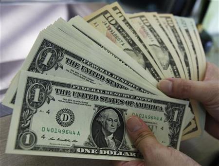 U.S. dollar bills seen