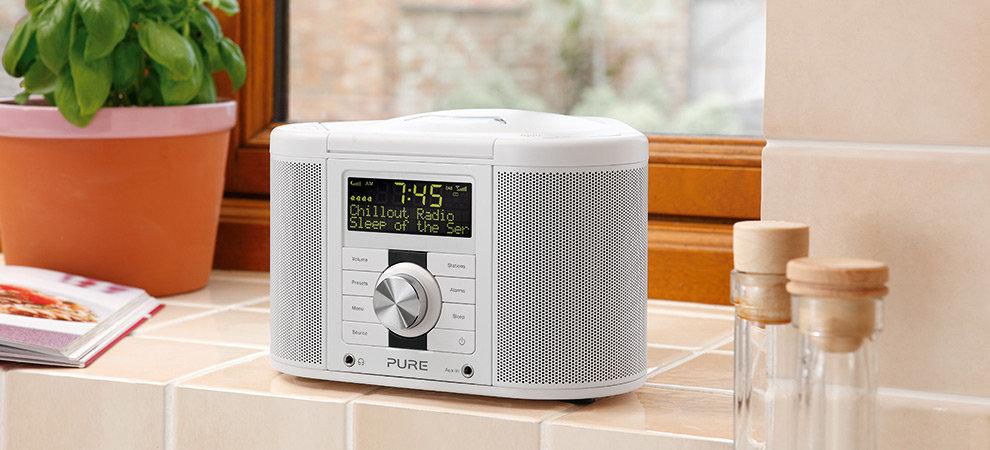 Pure Chronos DAB/FM/CD Stereo Clock Radio