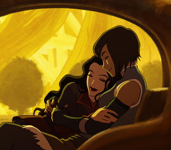Legend of Korra: Korrasami lesbian art