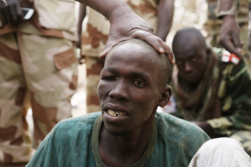 Captured Boko Haram prisoner