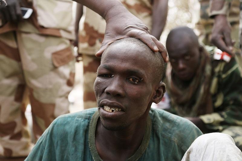 Captured Boko Haram prisoner