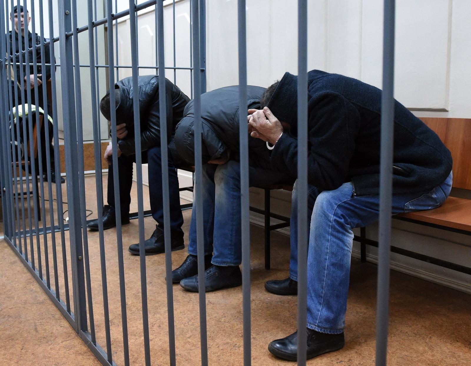 Three suspects in the Nemtsov murder