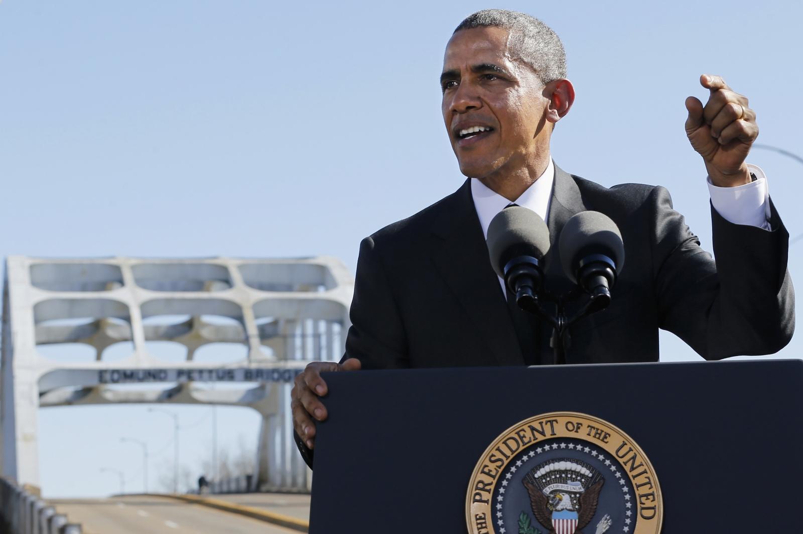 Barack Obama gives speech at Selma