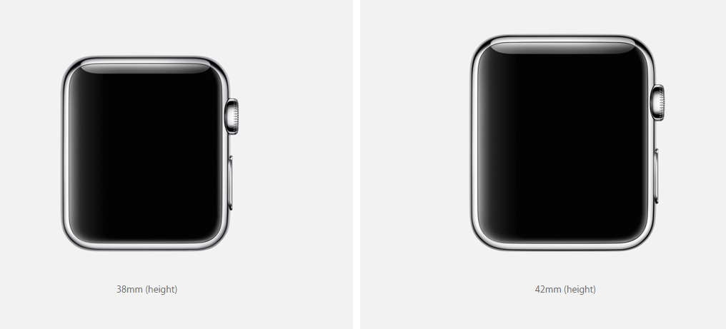 Apple Watch case sizes