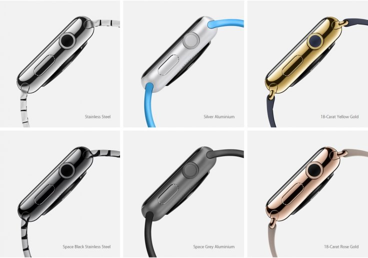 Apple Watch case material options