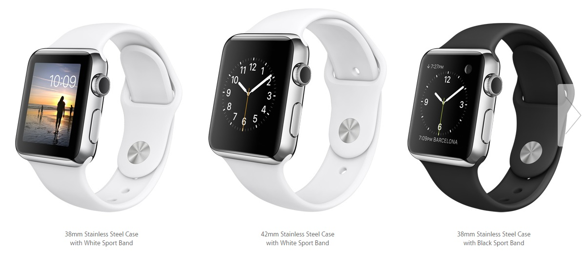 Apple Watch with Sport Band strap