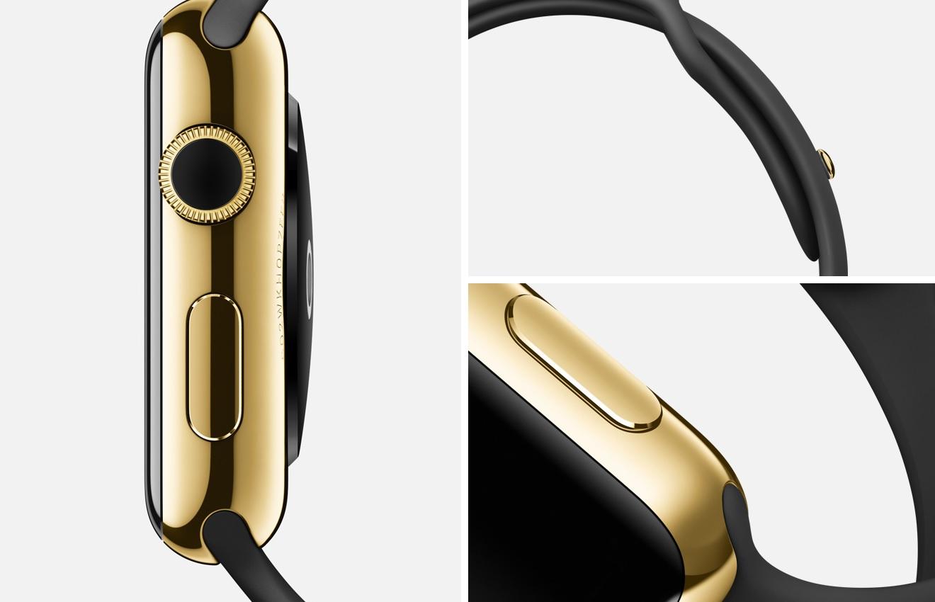 Apple Watch Edition yellow gold sport black