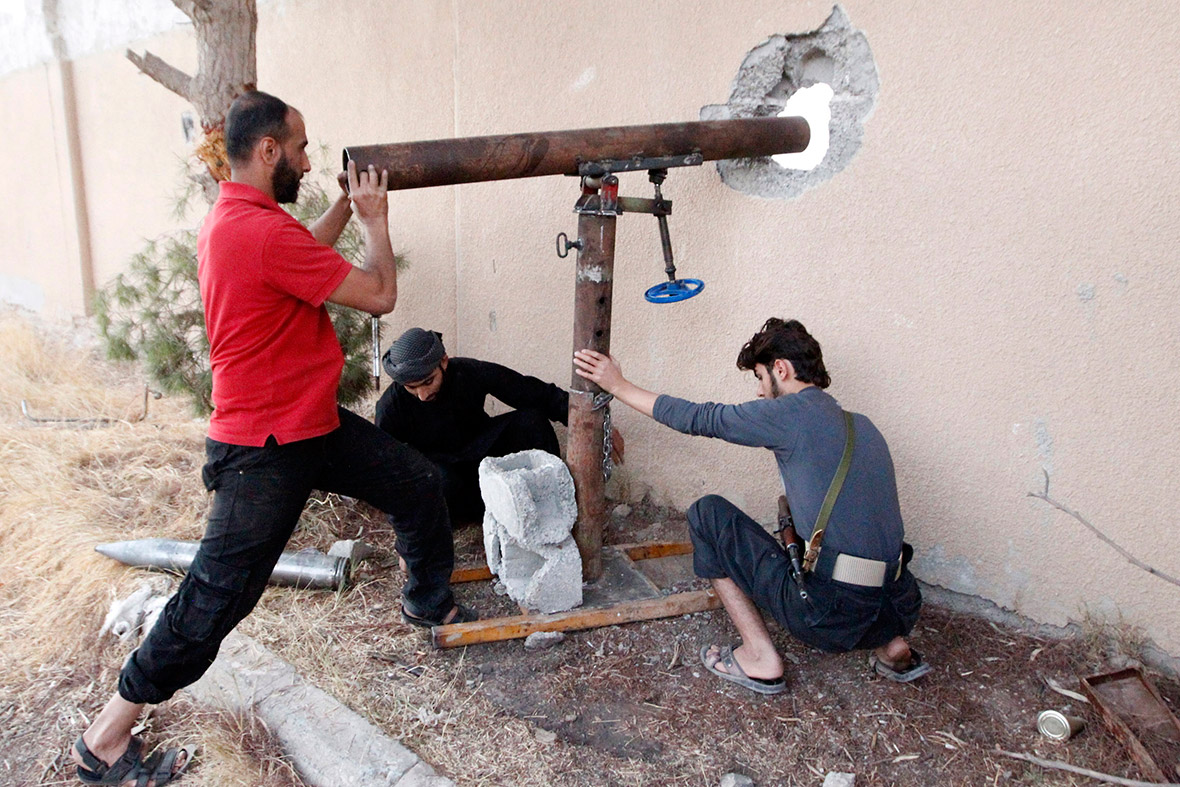 Syria homemade weapons