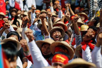 Myanmar student protest