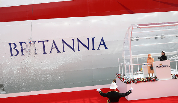 The Queen launches the Britannia