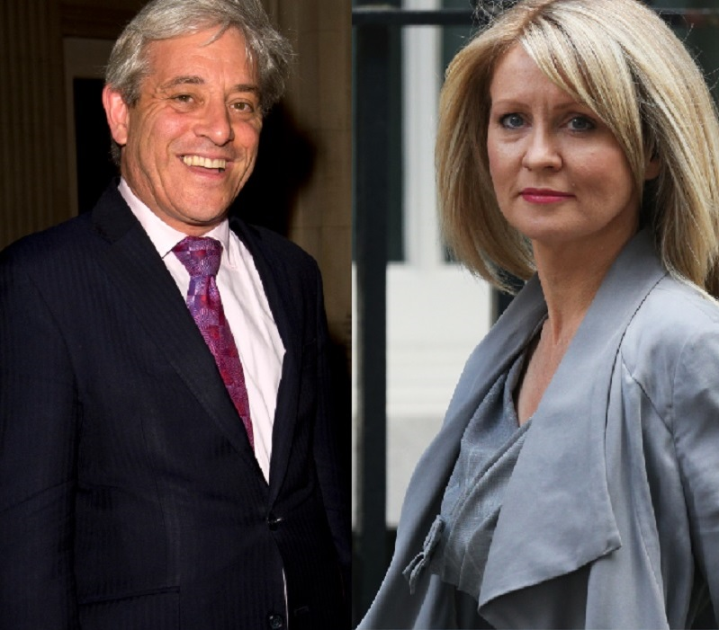 Esther McVey and John Bercow