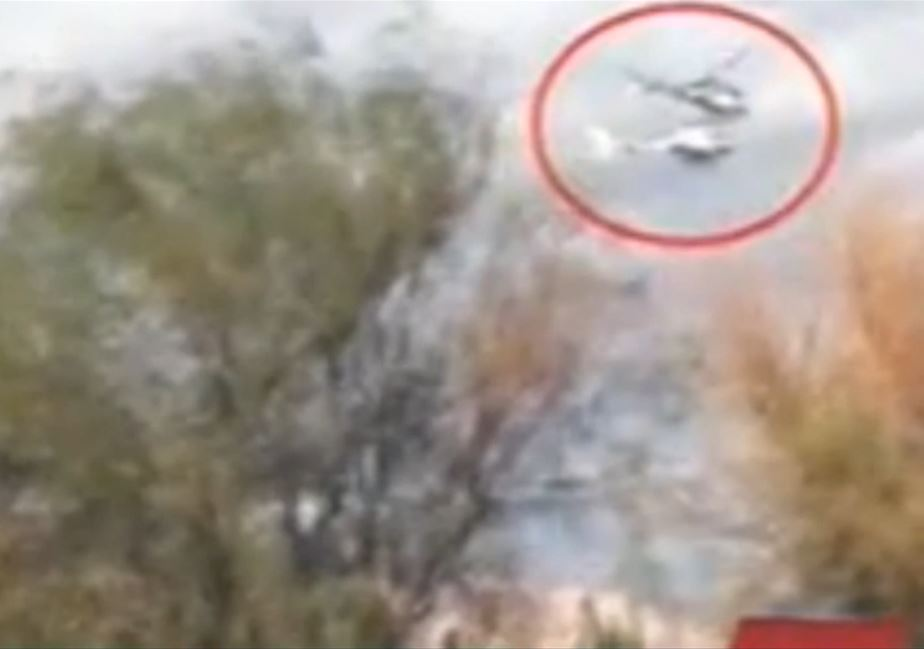 Argentina helicopter crash screen shot