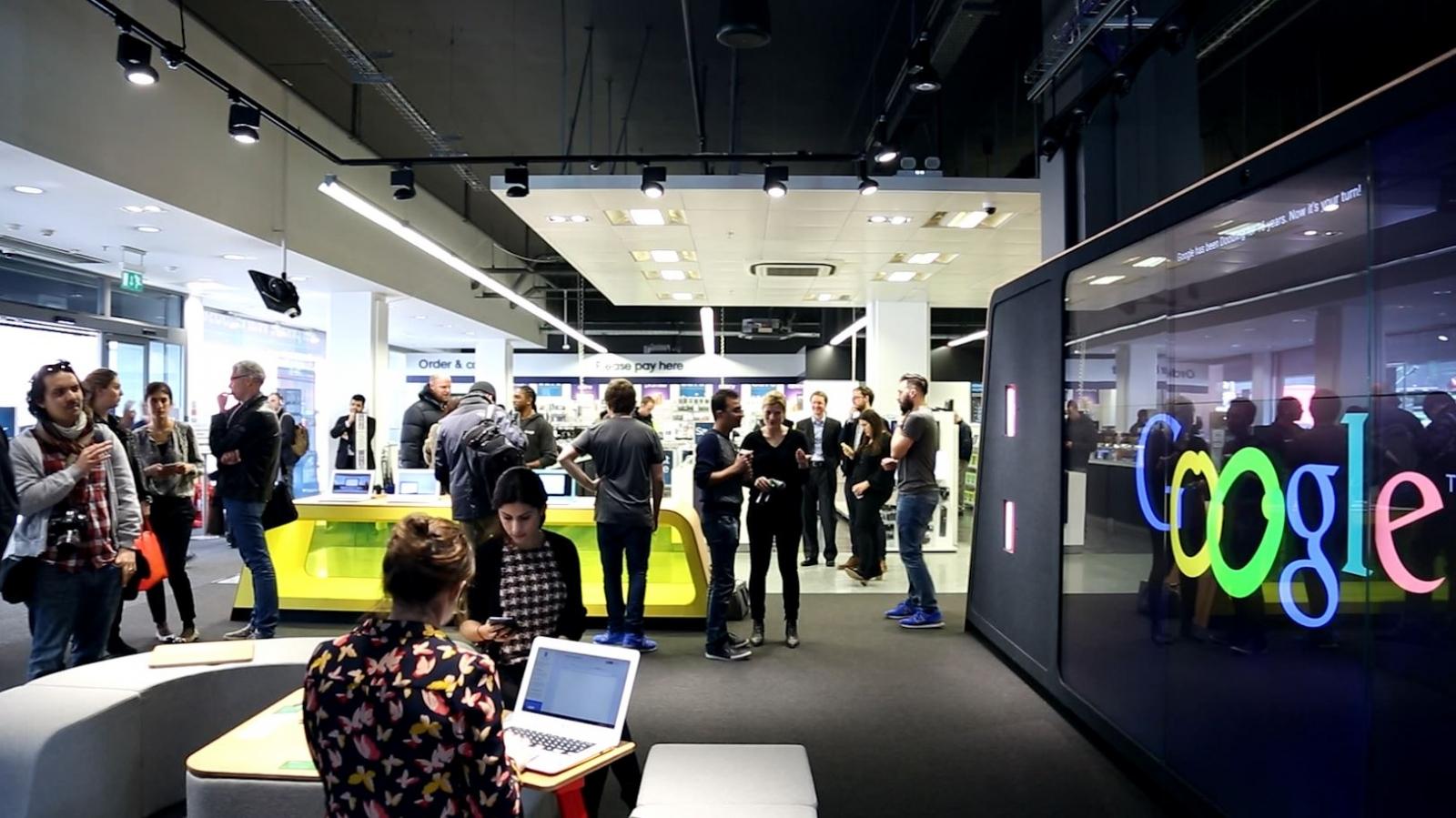 Google Shop opens in London