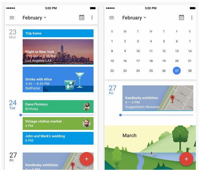 Calendar Design For App : Updated google calendar app with material design ui new