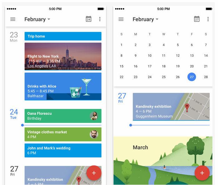 Updated Google Calendar app