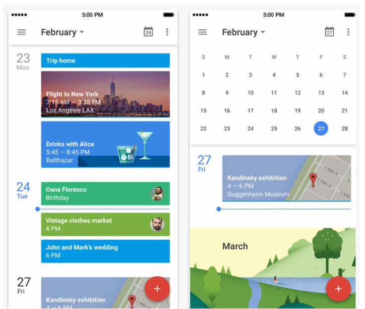 Event Calendar Ui Design : Updated google calendar app with material design ui new