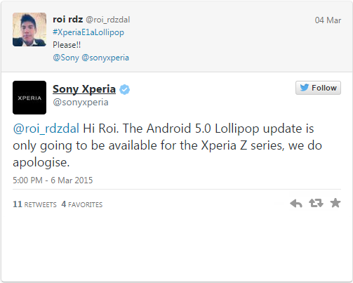 Xperia Lollipop
