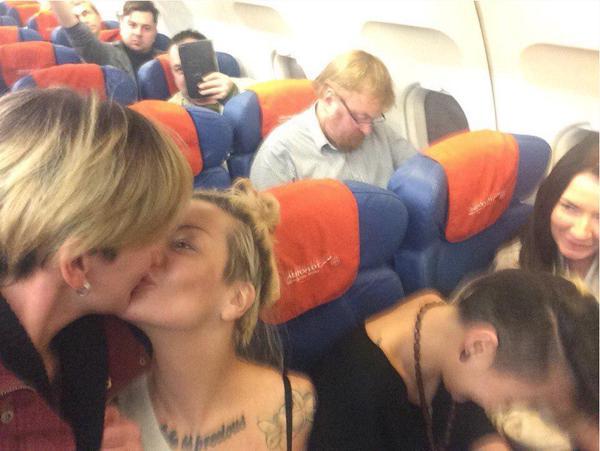 Two lesbian activists Milonov selfie