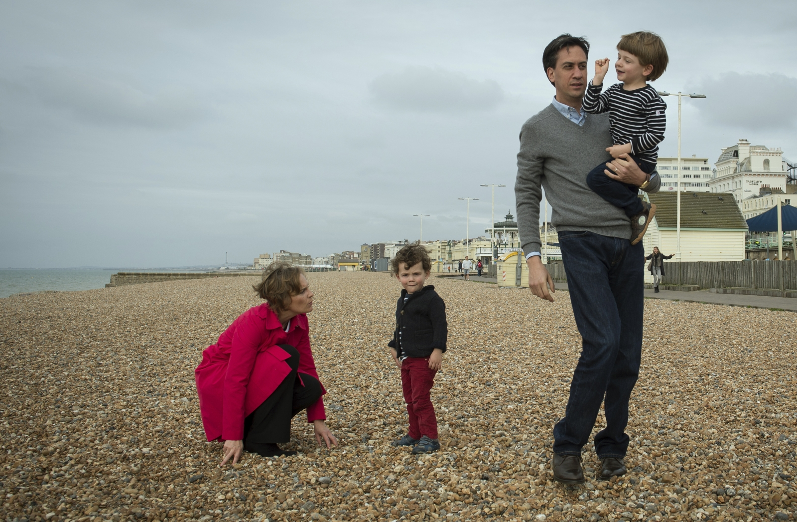 Happy family: On Brighton beach in 2013