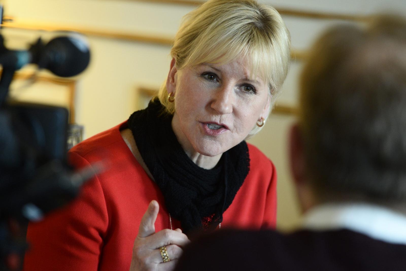 Swedish Foreign Minister Margot Wallstrom Saudi