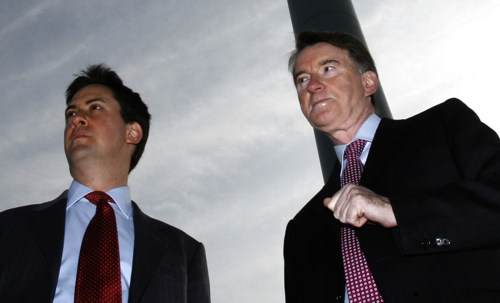 Peter Mandelson and Ed Miliband