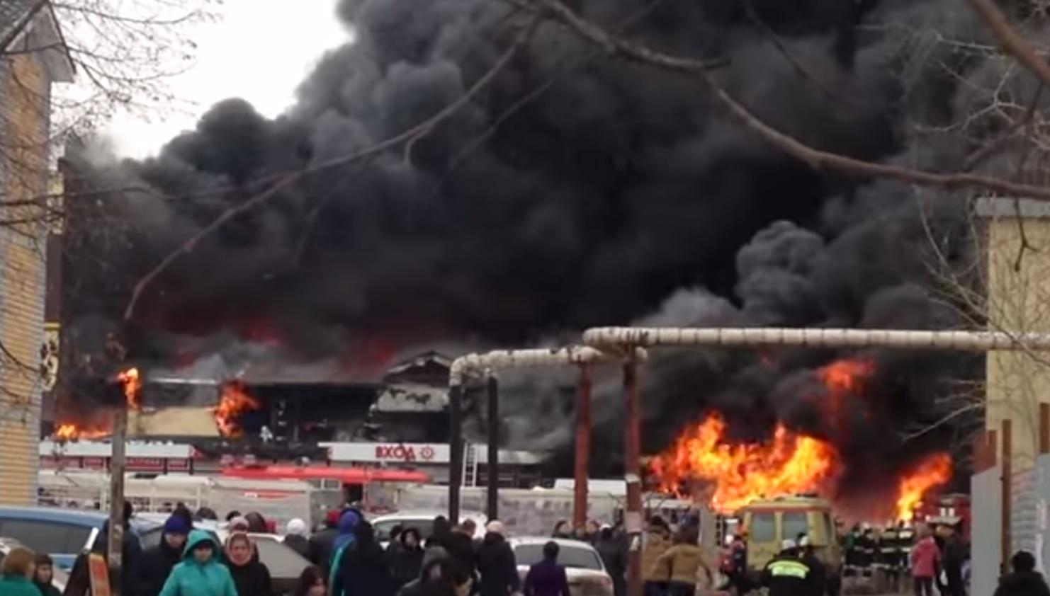 Russia Kazan Fire